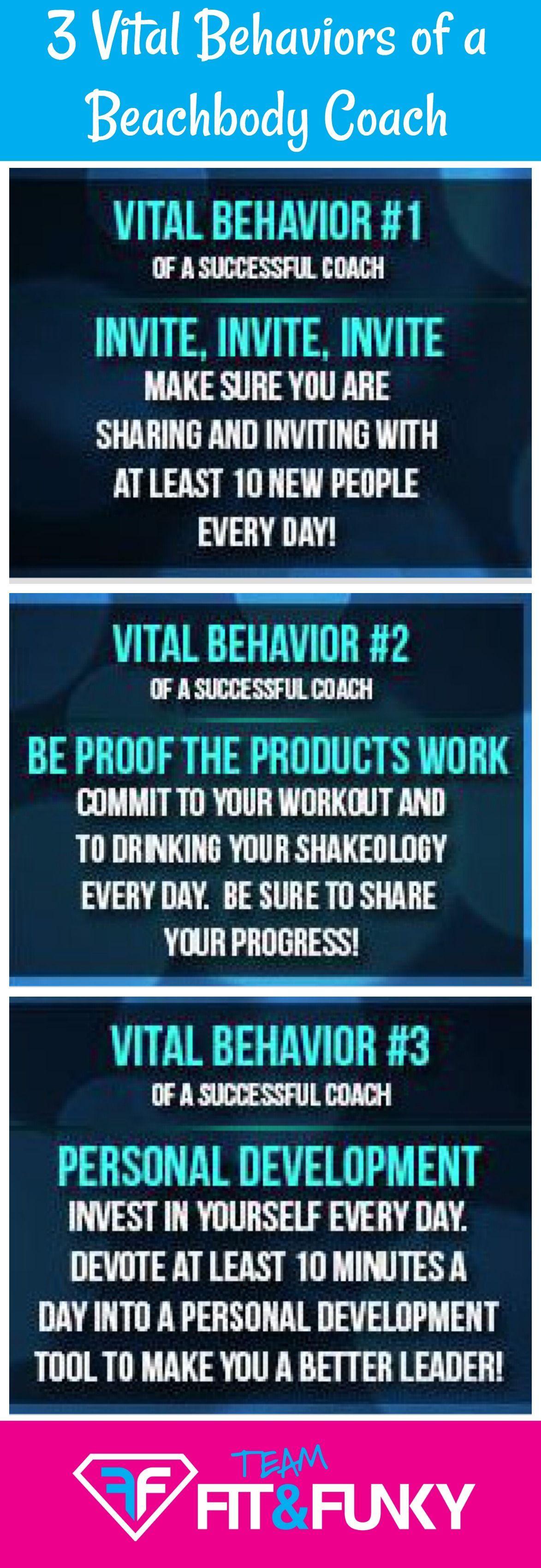3 Vital Behaviors Of A Team Beachbody Coach Beachbody