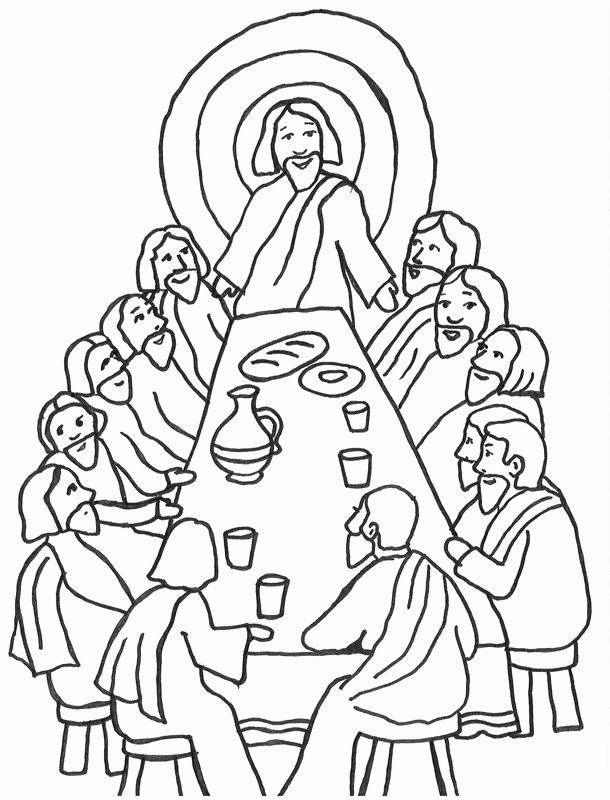 Secuencia De La Ultima Cena Con Jesus Y Sus Discipulos Nuestros Biblico Au Sunday School Coloring Pages Bible Coloring Pages Bible Coloring