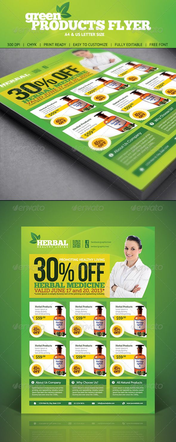 Green Product Flyer  Green Products Print Templates And Flyer