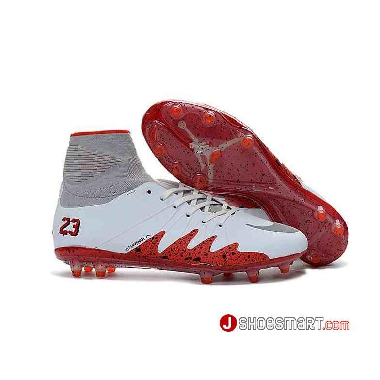 hot sale online 51e11 66fe7 ナイキ メンズ シューズ スパイク Nike Hypervenom Phantom II with NJR x JORDAN FG ホワイト レンジ 白