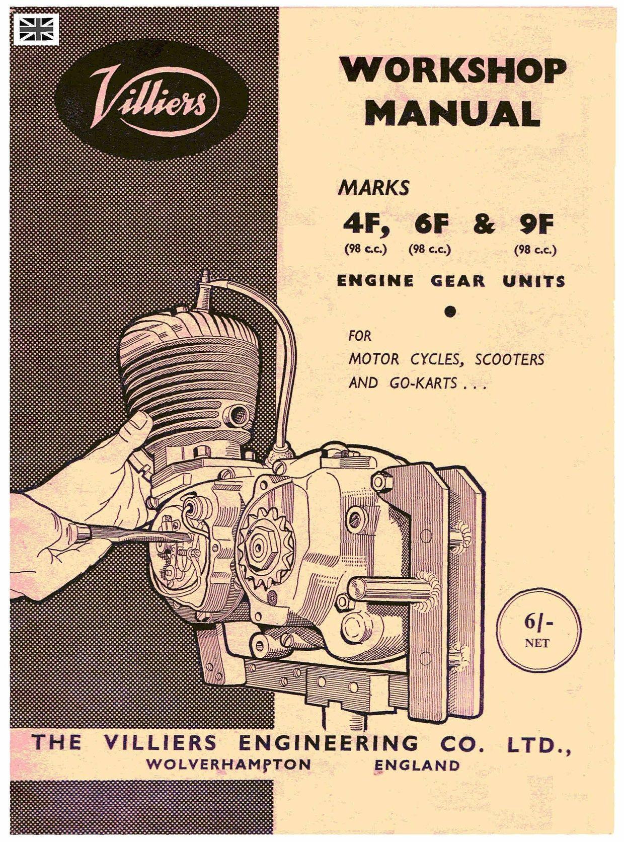 Villiers 4 6 9f Workshop Service And Repair Manual Repair Manuals Workshop Engineering