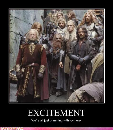 Sarcasm. Helm's Deep is full of it.