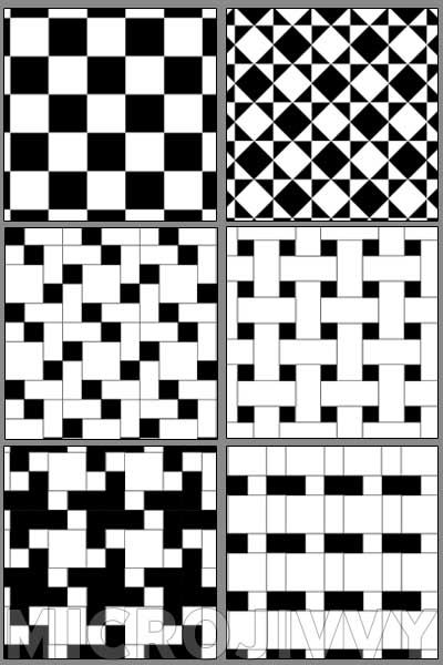 1 144 Black And White Floor Tiles Brique Et Pierre Art