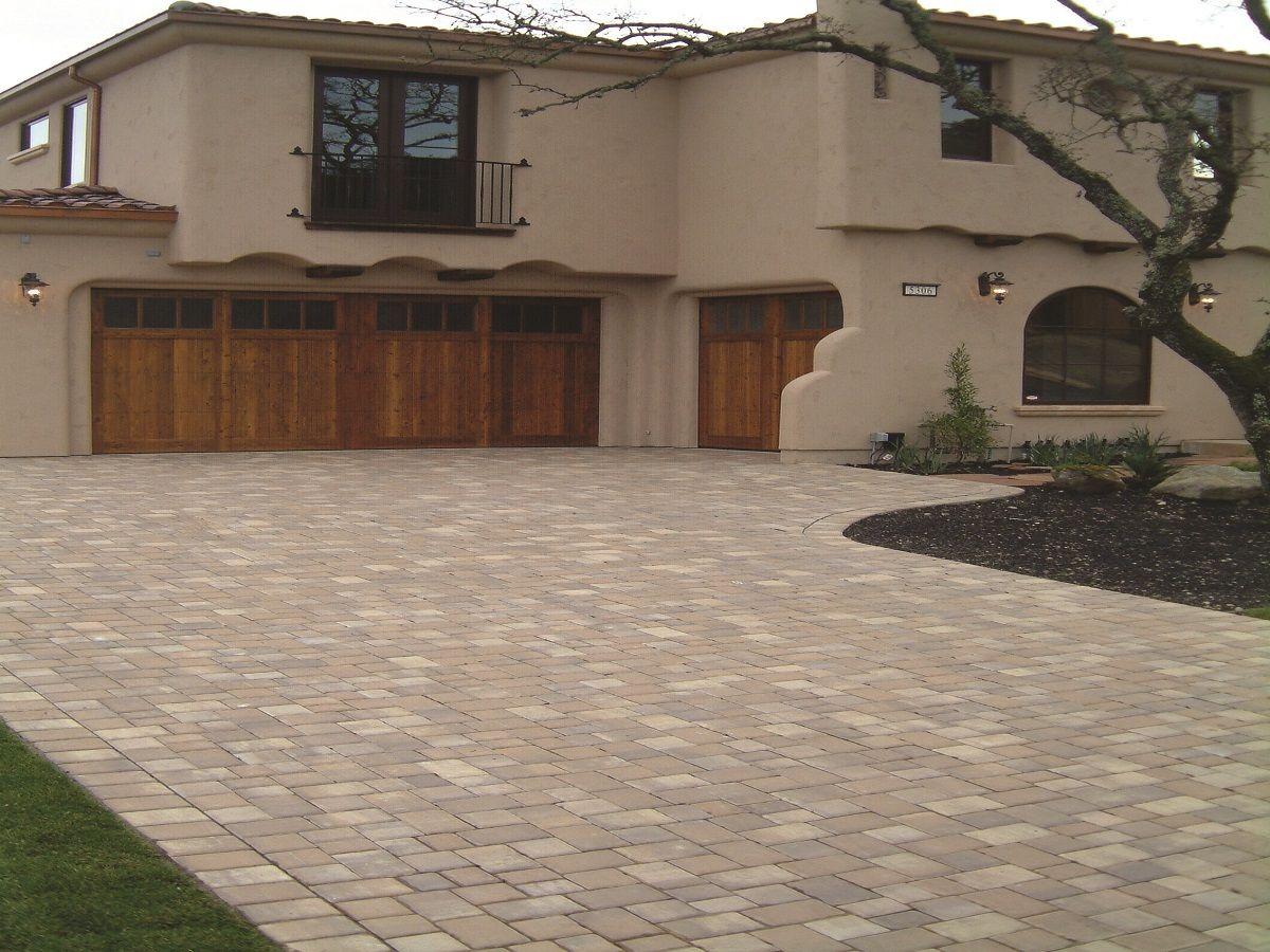 Brown Driveway Pavers : Calstone s classic cobble color cream tan brown