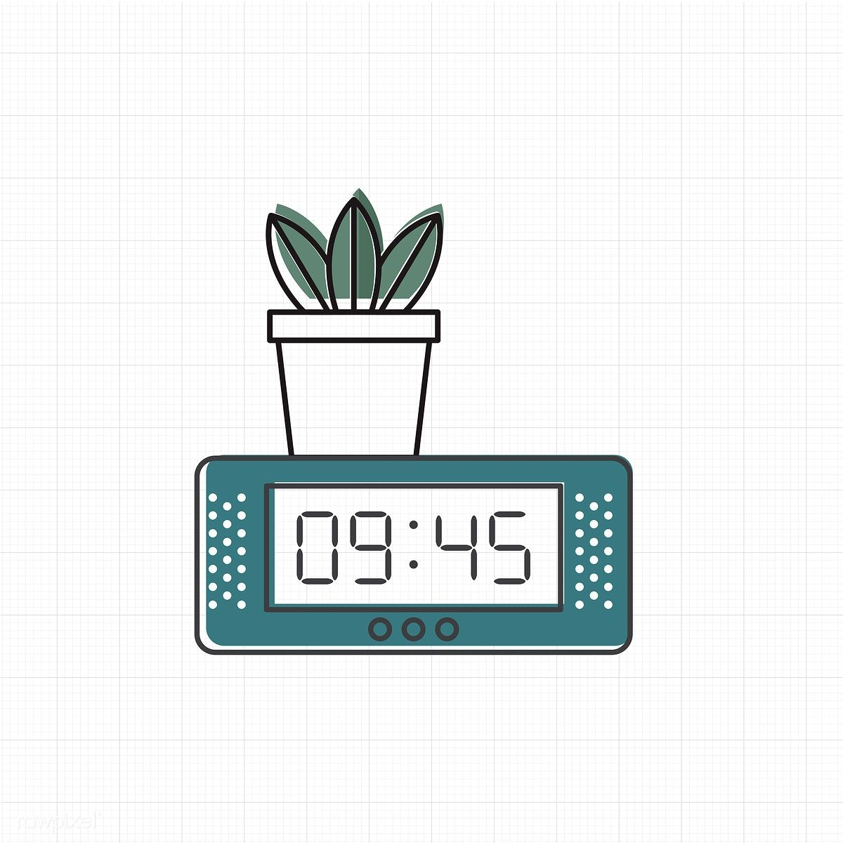 Vector of digital clock icon free image by