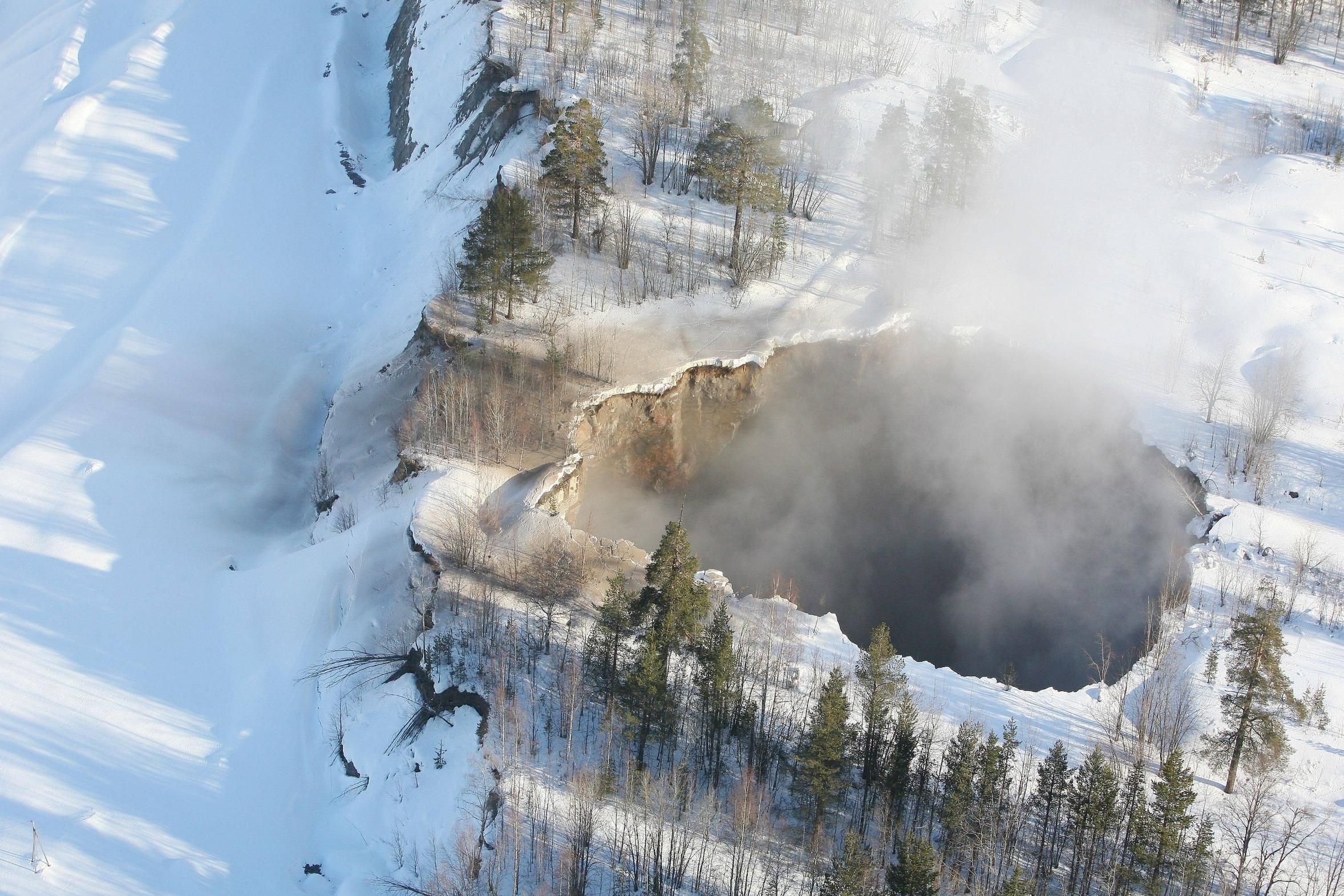 200 ft wide entrance to hell opens up in Sweden.   Glad I wasn't there!