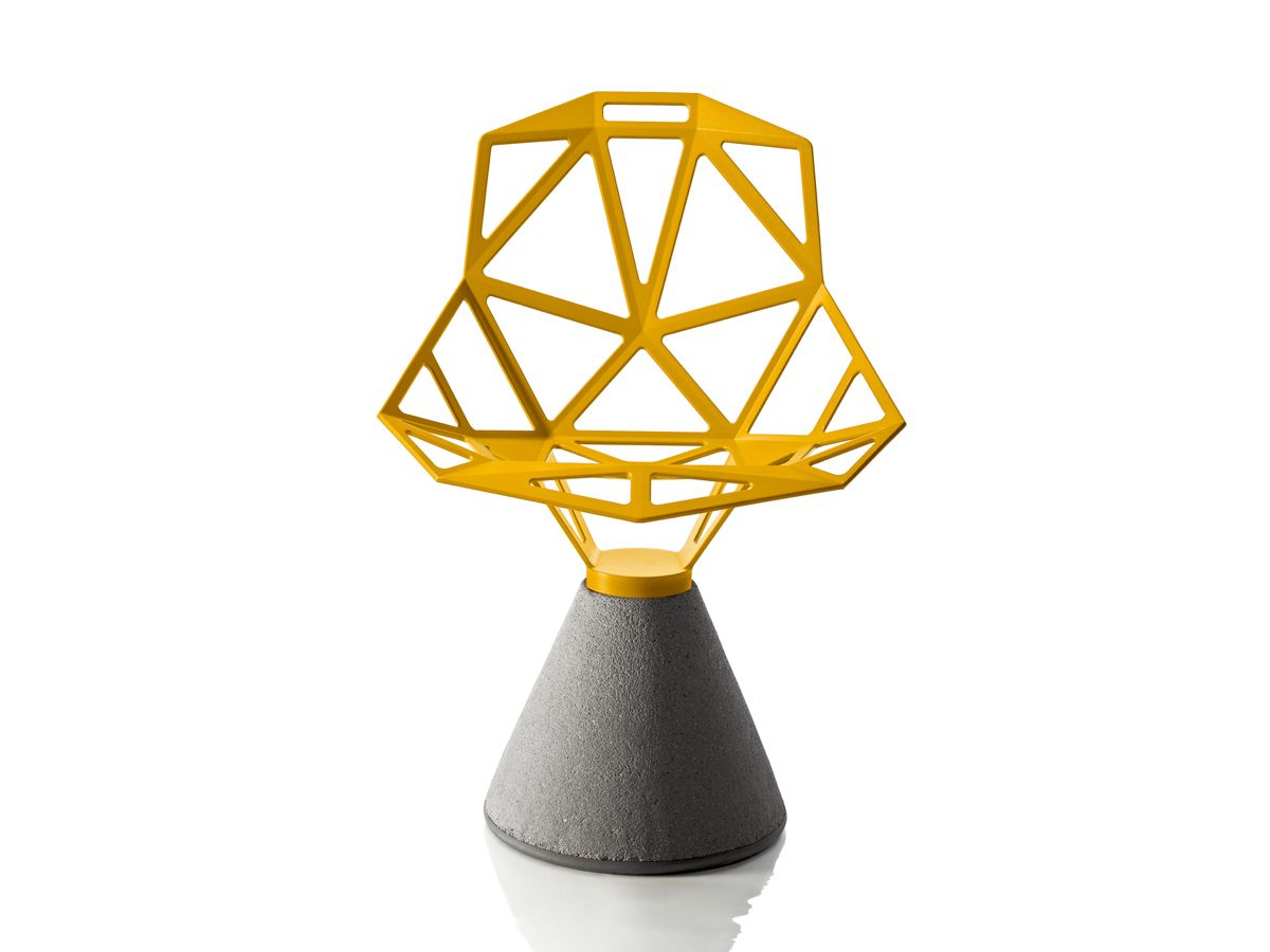 The Magis Chair One with a Concrete Base