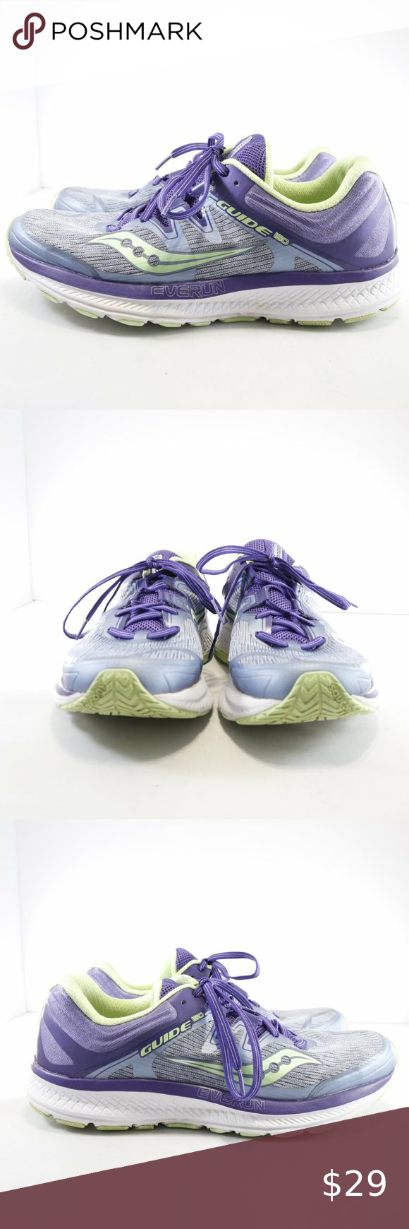 Saucony Guide ISO Purple/Green Running