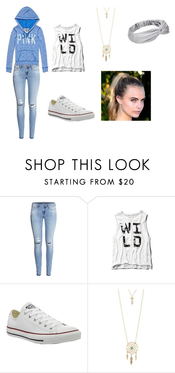 """Featuring: Pink~Victoria Secrets"" by crazytaylah-22 ❤ liked on Polyvore featuring H&M, Abercrombie & Fitch, Converse and Aéropostale"