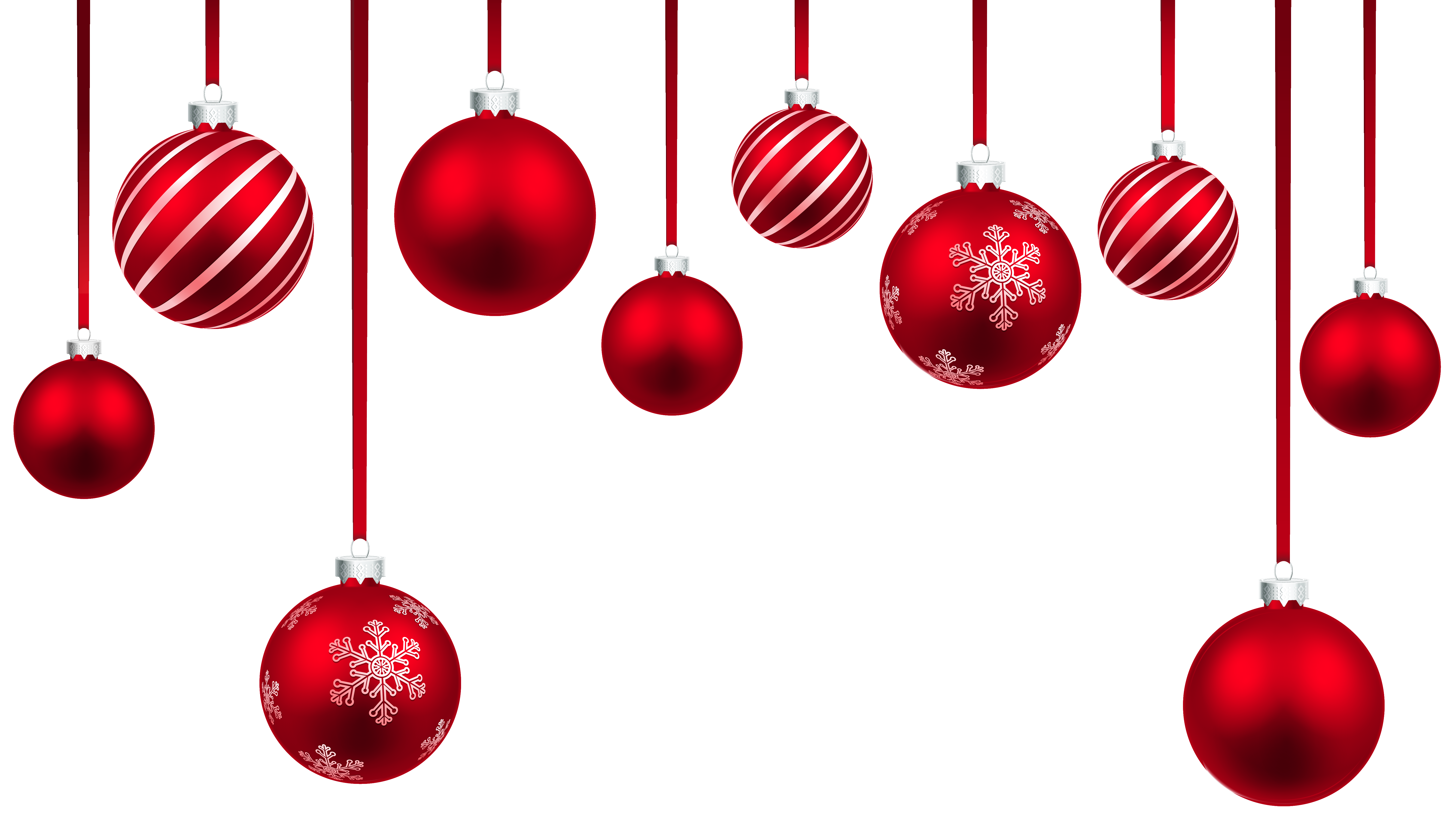 Red Christmas Hanging Balls Decor Png Clipart Image Gallery Yopriceville High Quality Im Christmas Balls Image Christmas Hanging Decorations Red Christmas