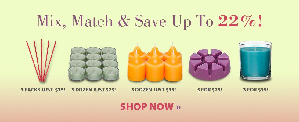 Mix, Match & Save! :D LOVE THIS, def the best way to stock up on gifts and new and fav scents for yourself! www.partylite.biz/gmcgee