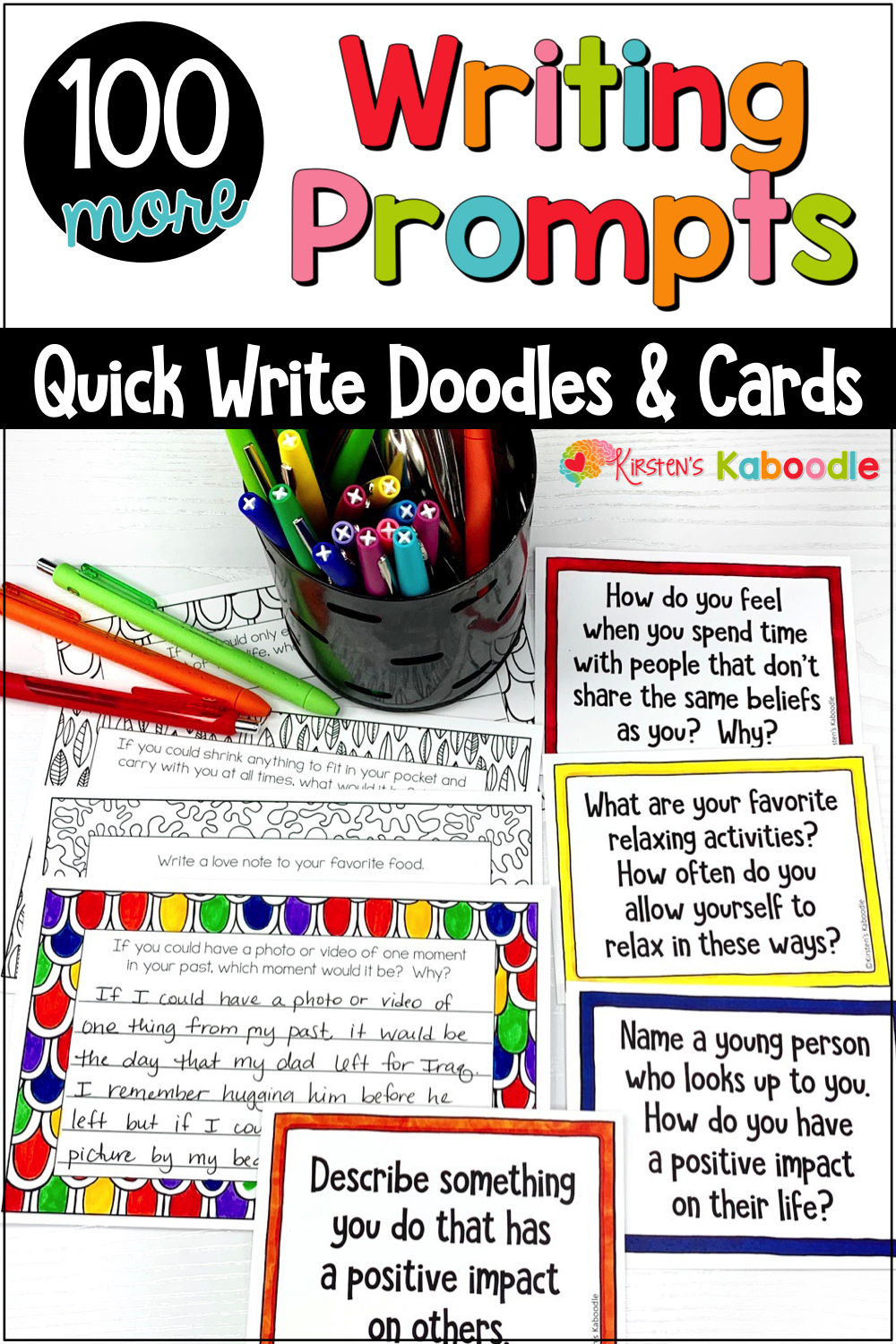 Quick Writes Journal Prompts | Journal Prompts for Middle ...