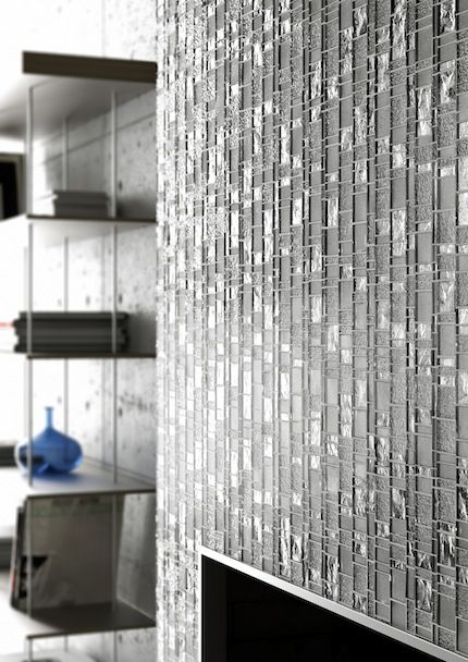 Mosaic Tile Accent Wall Maybe In A Small Room Entry Or A Vanity