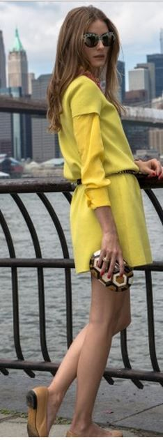 a790df7a61e Olivia Palermo  Dress – Kate Spade Sunglasses – Wunderkind Purse – Rafe Olivia  Palermo Lookbook