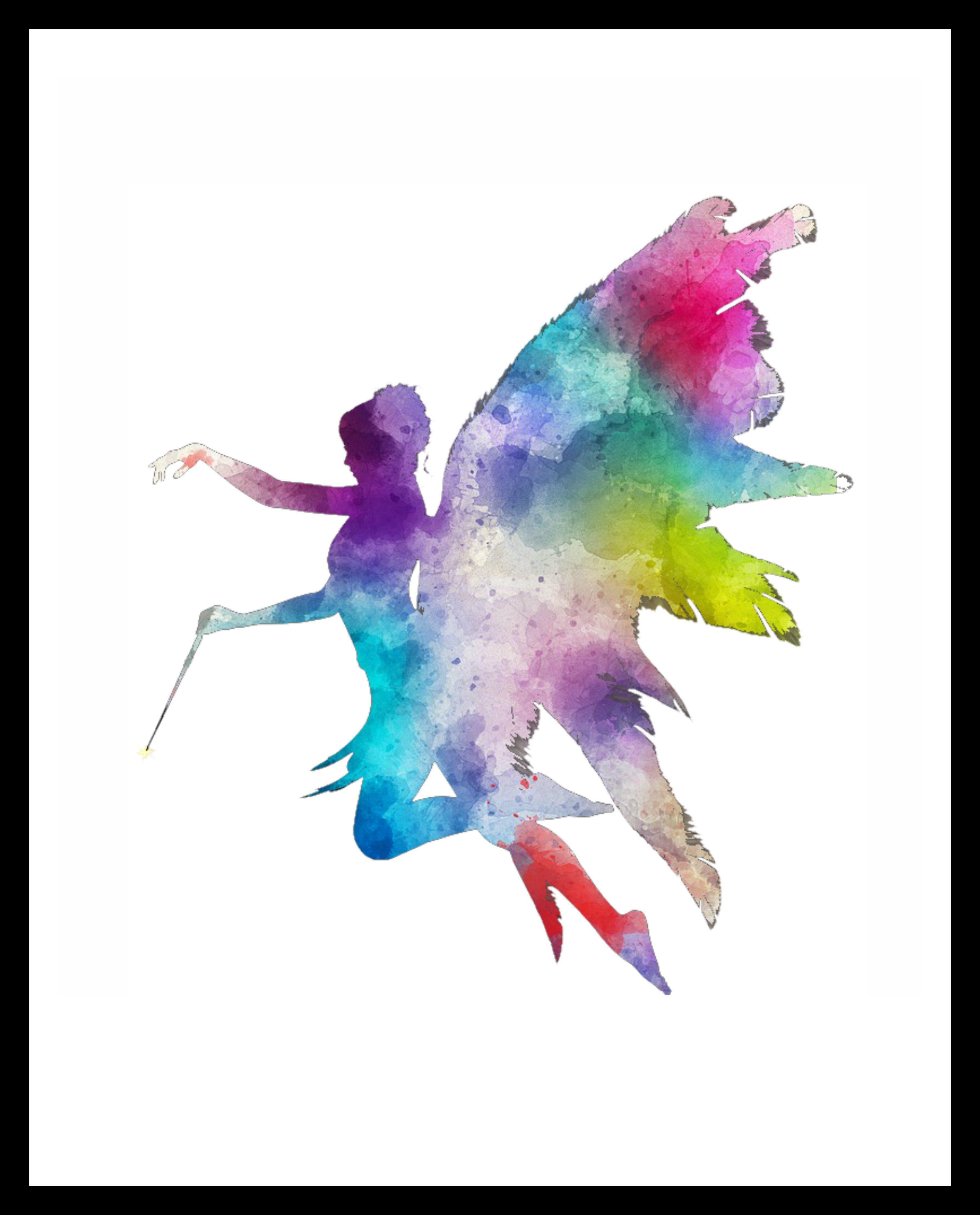 Printed Watercolor Art Print Fairy Poster Art Image Unframed Art