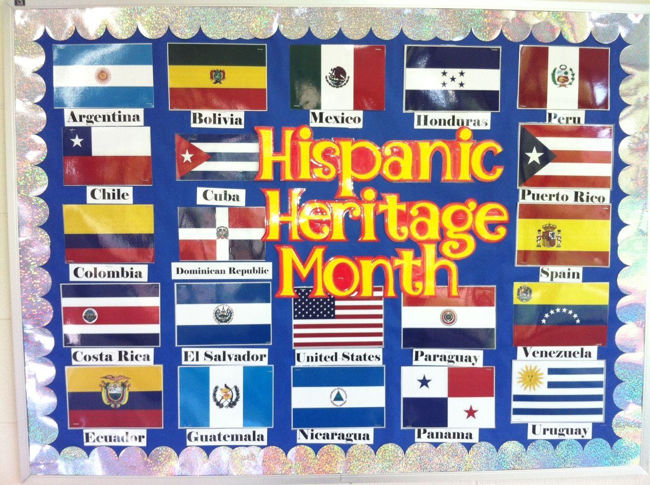 Hispanic Heritage Month Sept 15 October 15