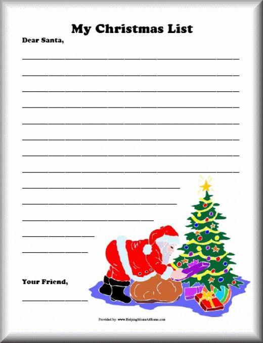 Christmas List Printables Santa - free printable christmas lists