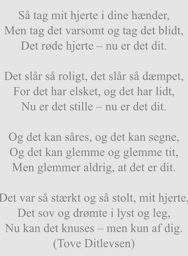 tove ditlevsen citater Tove Ditlevsen digt | Citater, vers og korttekster | Words, Quotes  tove ditlevsen citater