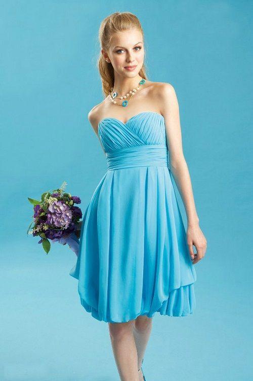Tiffany Blue Bridesmaid Dresses Short Top Fashion Stylists