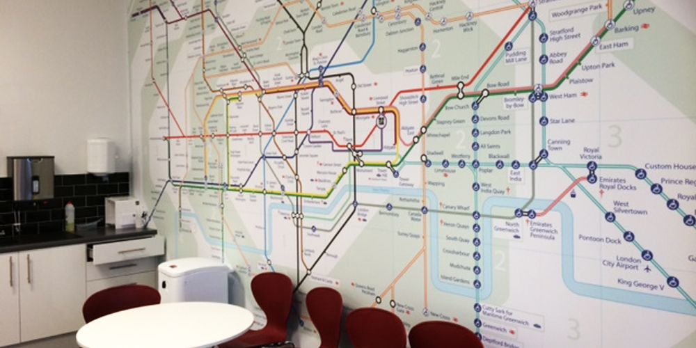 London underground map wall mural This large
