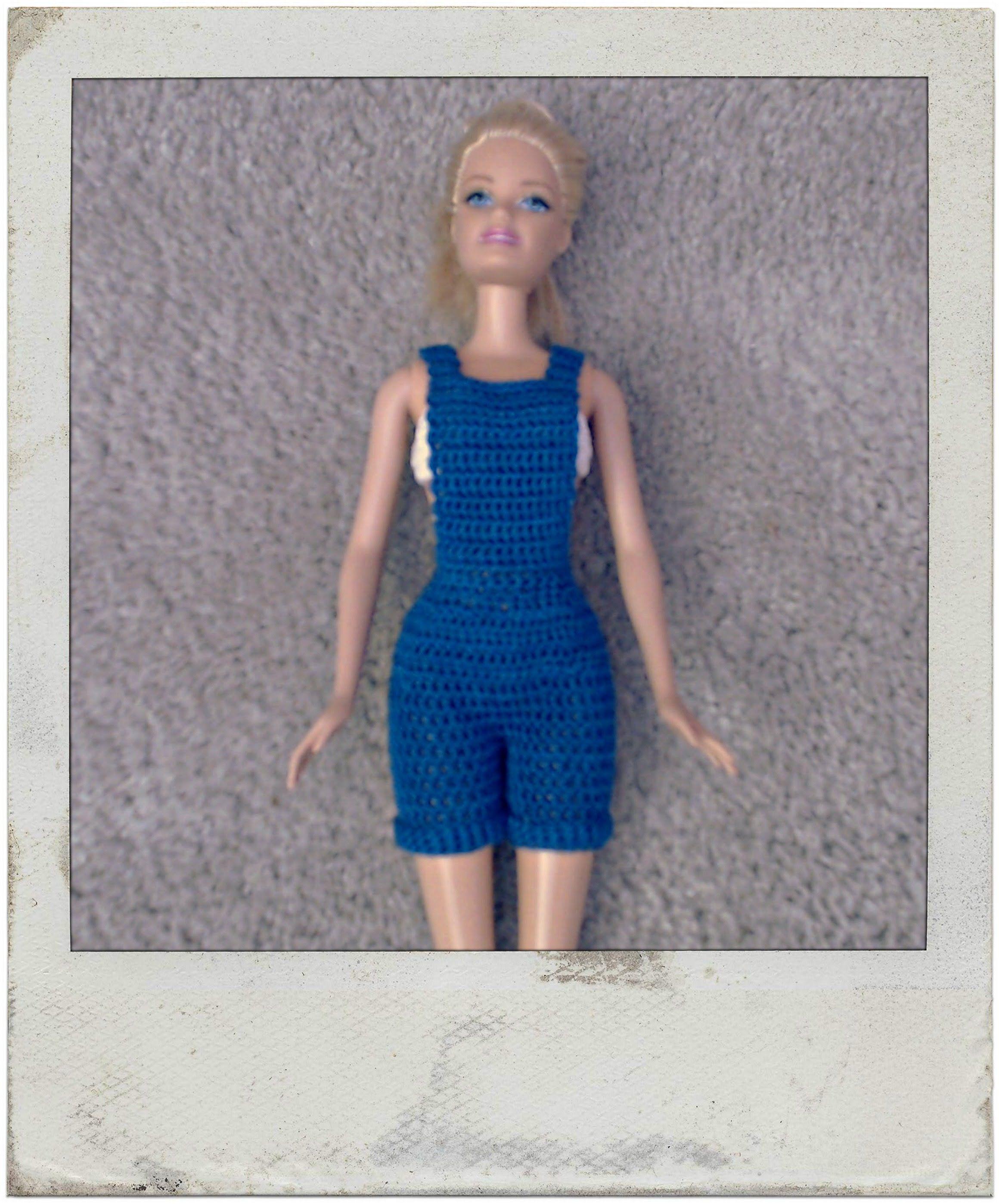 Crochet - Barbie\'s Bib Overall Shorts | Barbie Vídeos | Pinterest ...