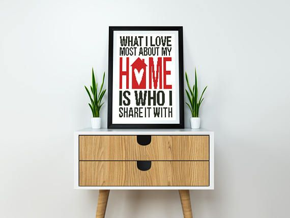 Home sweet home Cross stitch pattern Instant download PDF Modern Quote Counted Easy chart Beginner Printable Cute Happy Housewarming Subway