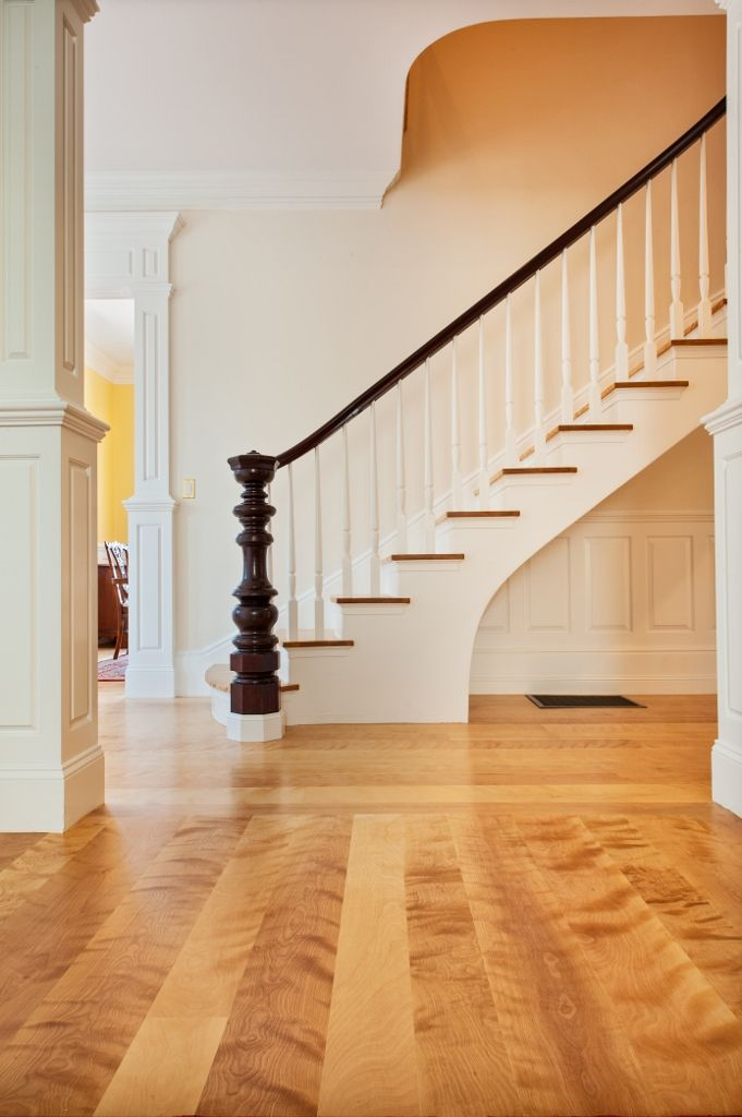 Best Curly Birch Wide Plank Flooring And Matching Stair Parts 640 x 480