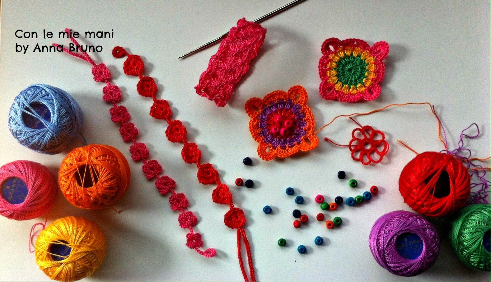 Con le mie mani by Anna Bruno: Braccialetti crochet tutorial