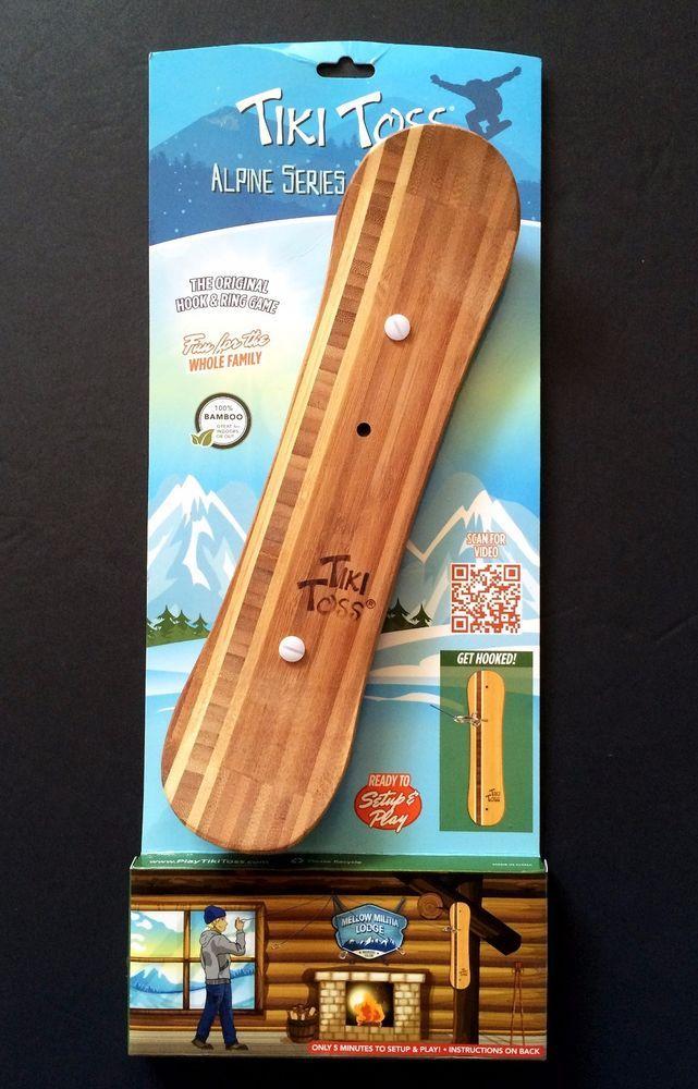 Tiki Toss Snowboard Edition Alpine Series Bamboo Hook & Ring Game NEW NIP #MellowMilitia