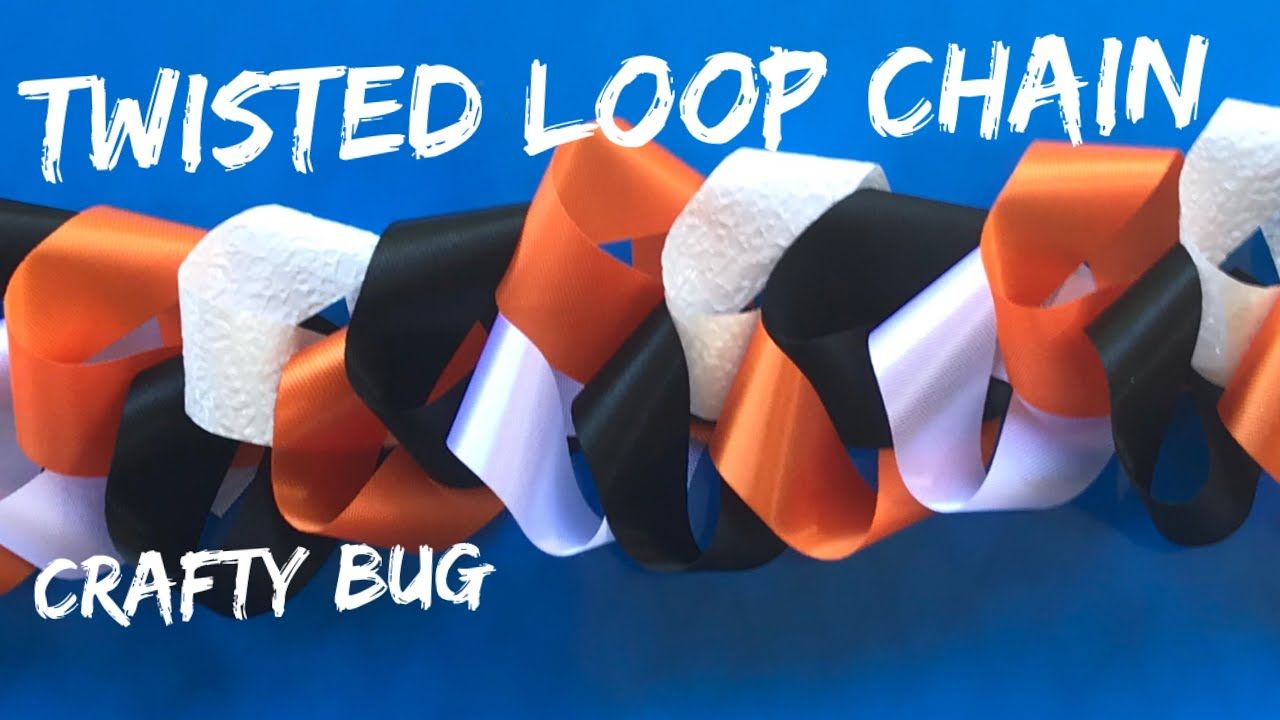 Twisted loop/ loopy homecoming mum chain tutorial; homecoming mum braids and chains