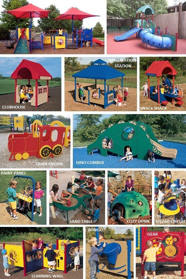 Preschool playground ideas playgrounds play structures for Kindergarten playground design