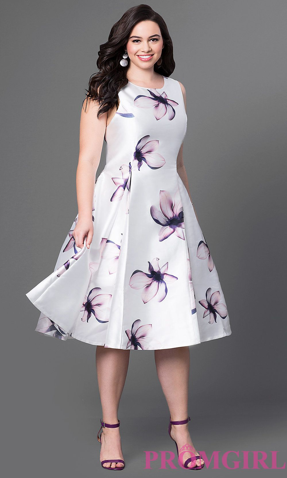2f771094190 White satin short dress with pink magnolias print.