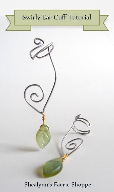 DIY Jewelry DIY Ear Cuffs : Swirly Ear Cuff Tutorial