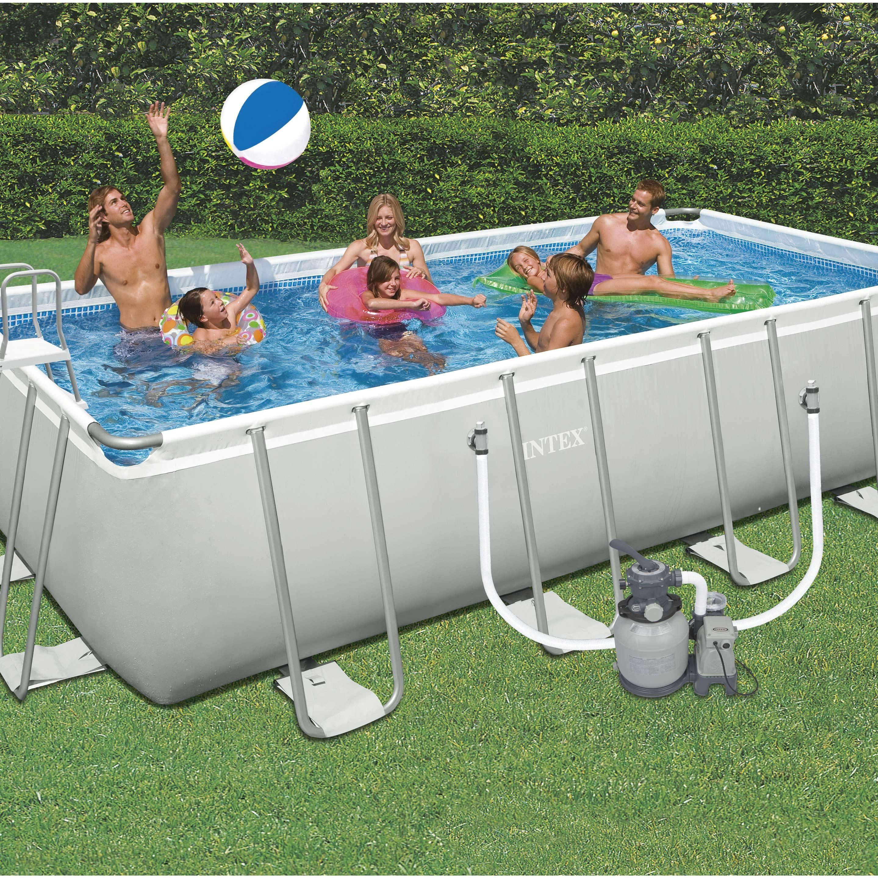 Leroy Merlin Spa Intex piscine tubulaire ultra intex, l.6.05 x l.3.3 x h.1.32 m en