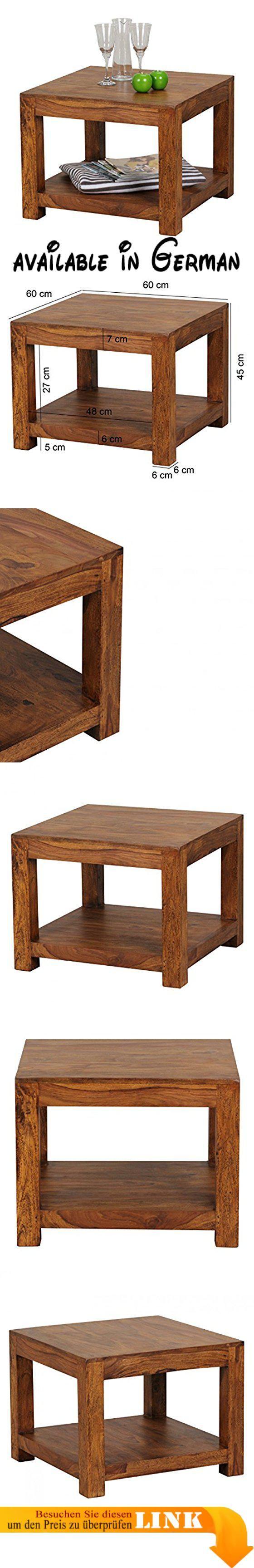 B013BQKURC : Wohnling Couchtisch Massiv-Holz Sheesham 60 x 60 cm ...