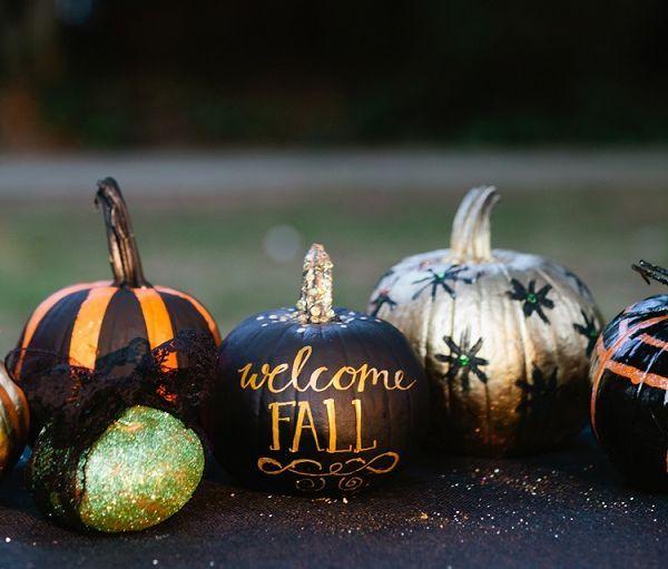 Creative DIY No-Carve Pumpkin Designs for Halloween Holidays - halloween diy ideas