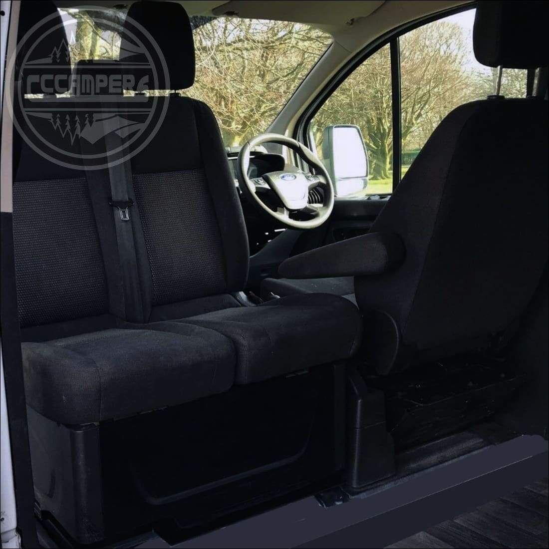 Ford Transit Custom 2013 Double Swivel Seat Base Fitted Transit Custom Ford Transit Ford Transit Custom Camper