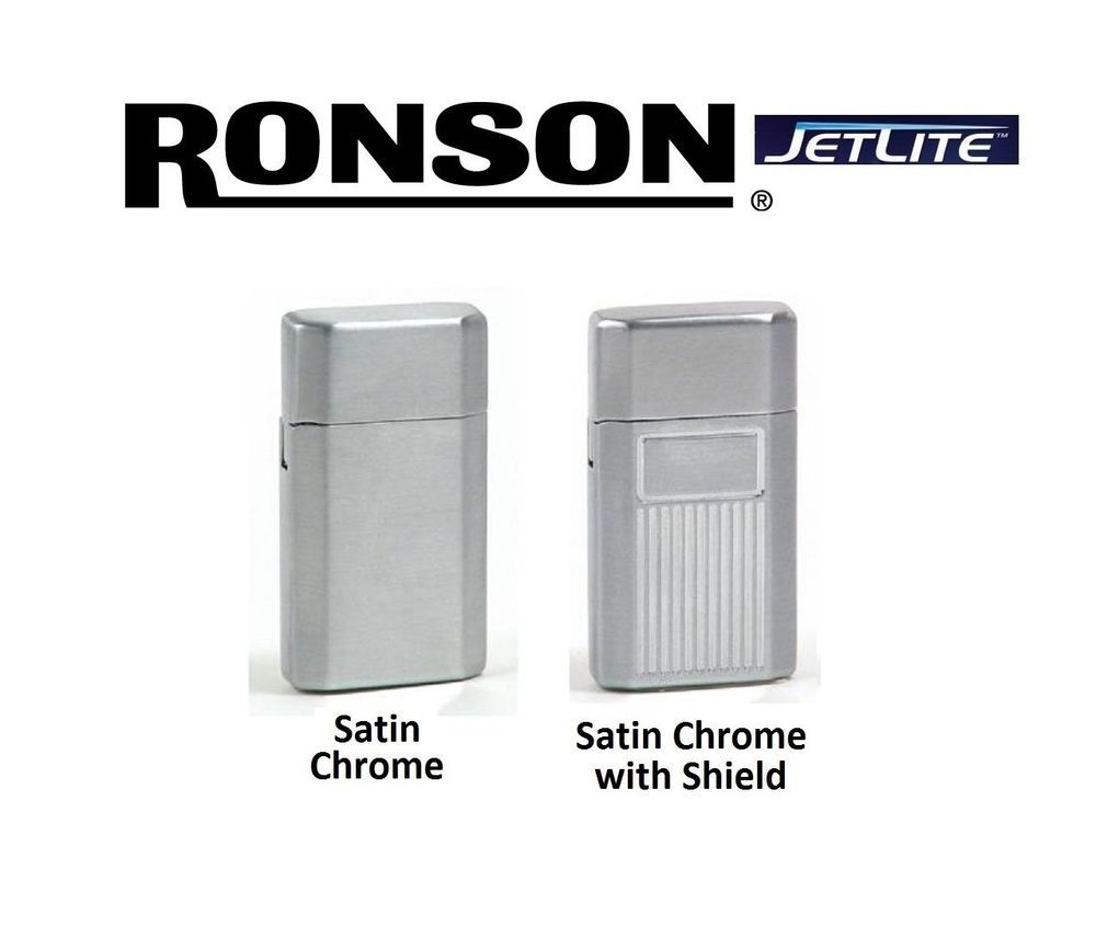 1 Ronson JetLite Butane Torch Lighter Adjustable Flame Refillable Gray//Silver