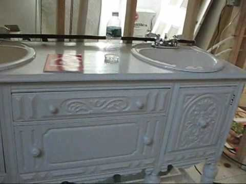 Antique Sideboard Turned Into Bathroom Vanity Th Vid For The - Dresser turned bathroom vanity for bathroom decor ideas