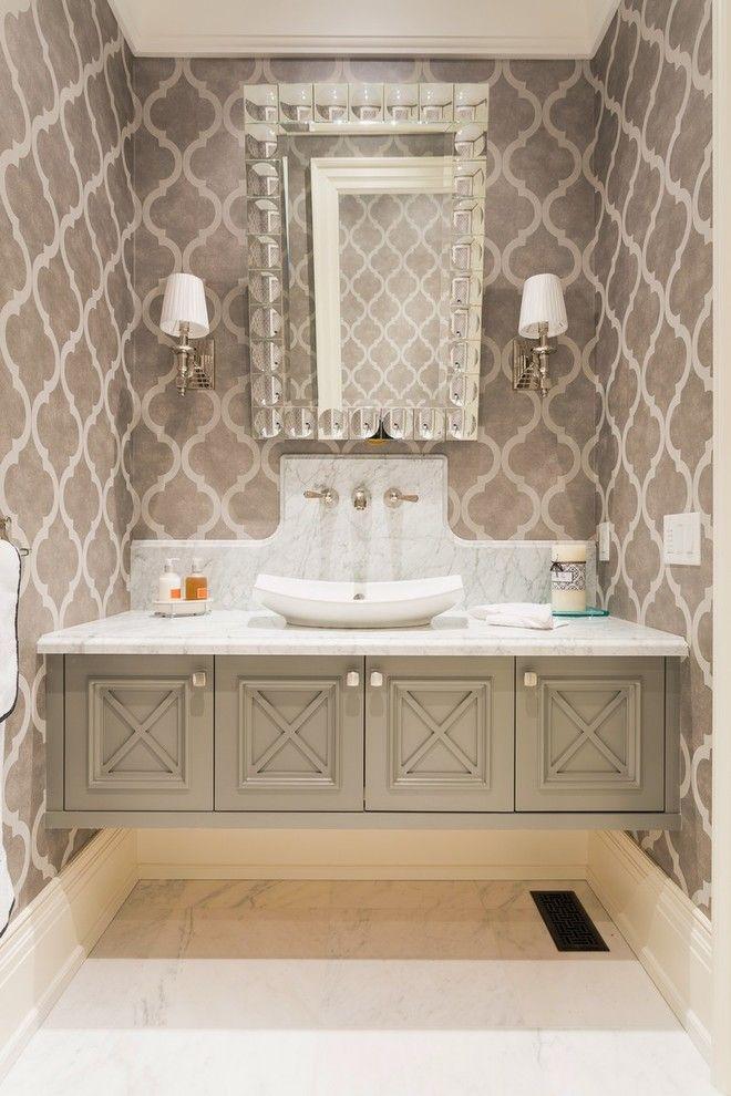 Floating Bathroom Vanity Traditional With Mirror Beige
