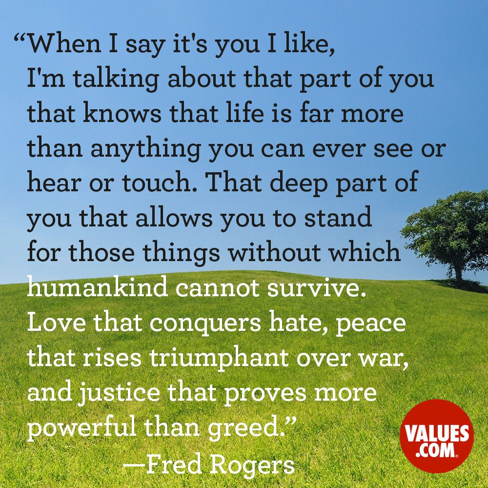 An inspirational quote by Fred Rogers from Love