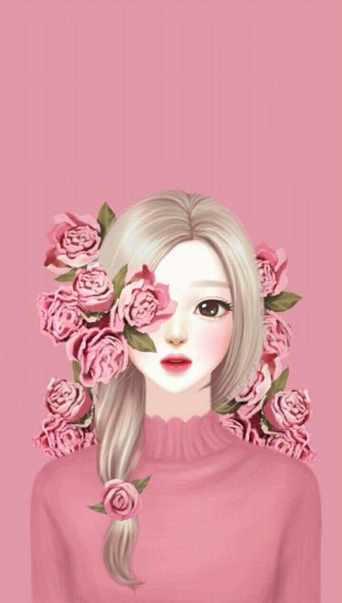 Rose Art And Drawing Image Cute Girl Wallpaper Anime Art Girl Girly Art