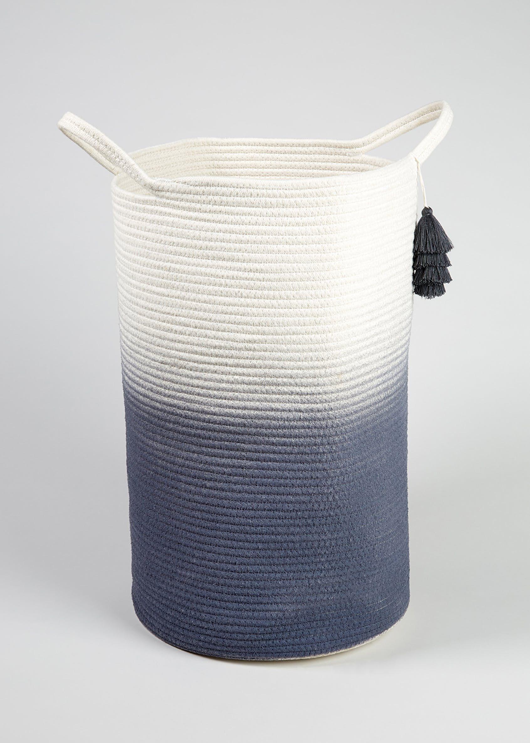 Ombre Rope Laundry Basket Blue Baby Laundry Basket Laundry