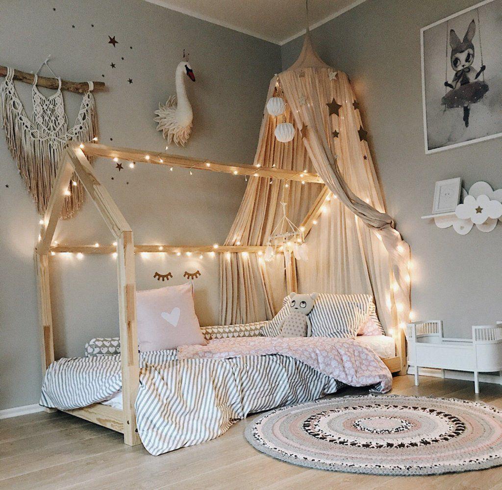 Guirlande lumineuse en cuivre argenté  Idee chambre fillette