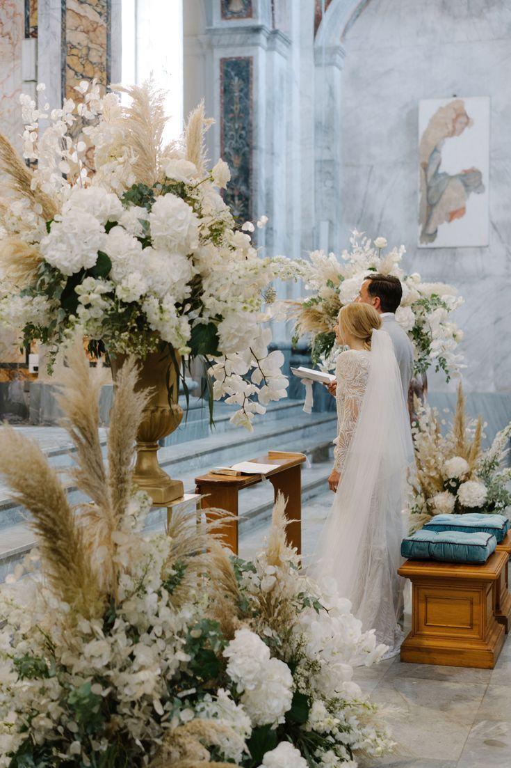 18 formas creativas de usar la hierba de pampa en la decoración de tu boda