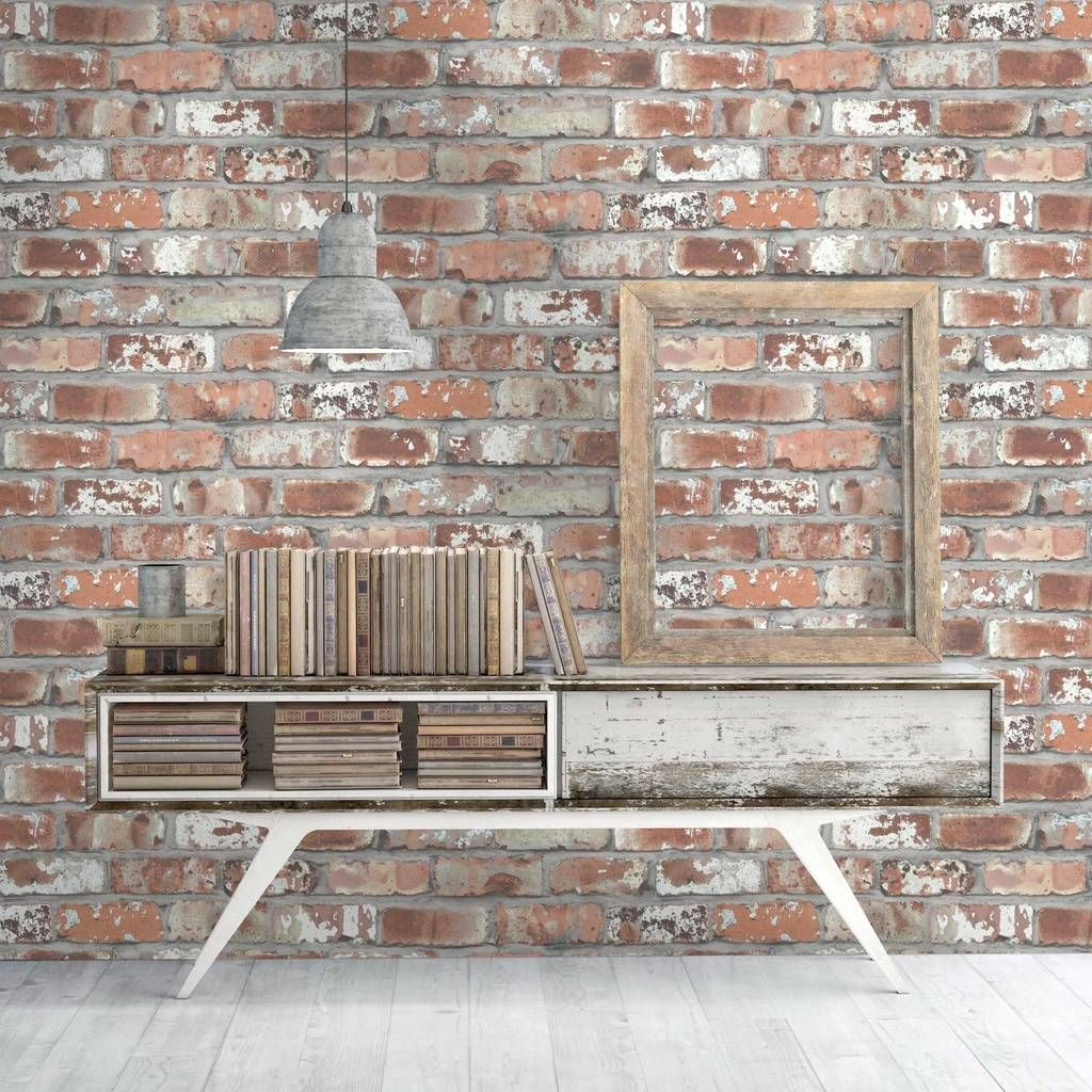 real red brick wallpaper by woodchip and magnolia by