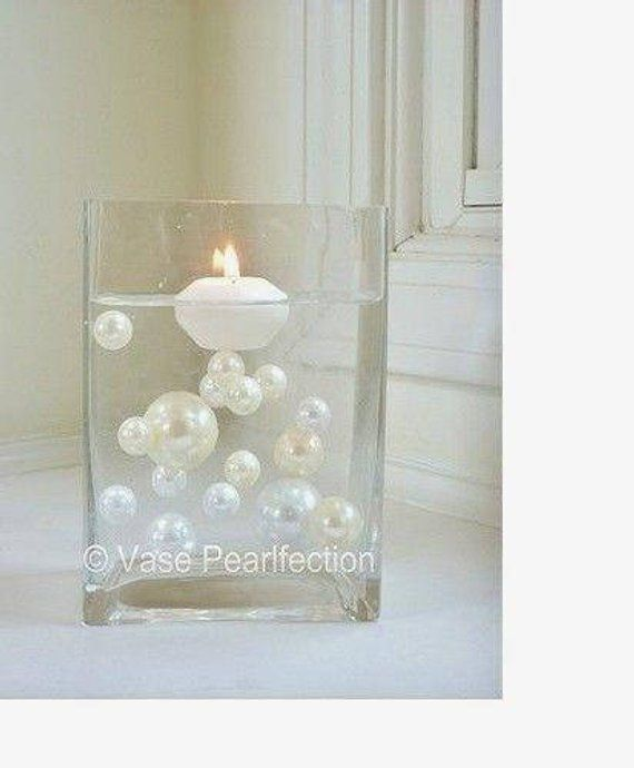 Ivory Mother Of Pearl Floor Vase In 2019: Unique Transparent Water Gels For The Floating Pearls Look