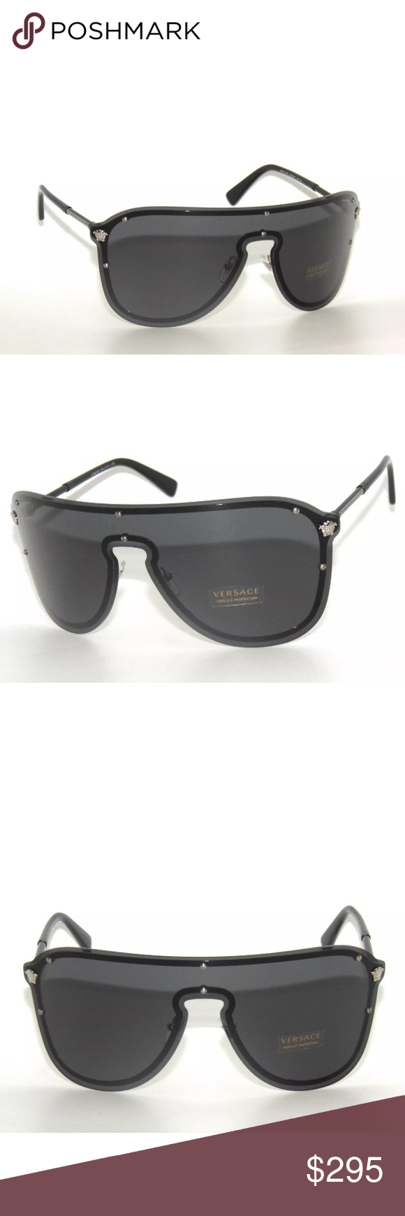 7154c405e97 Versace Sunglasses 2180 silver and grey Brand new Comes with Versace case
