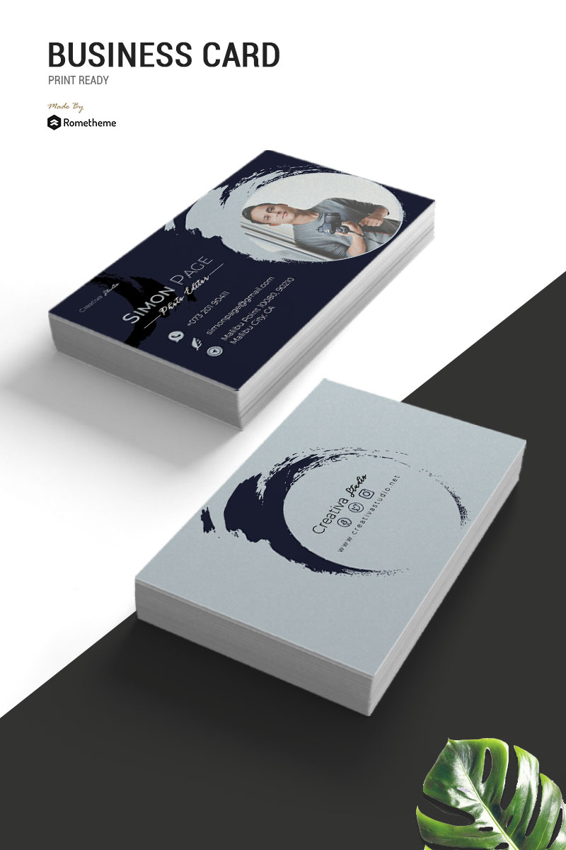 Designer Business Card Template Stylish Paint Effect Ideas And Inspiration Create Business Cards Business Cards Creative Business Card Design