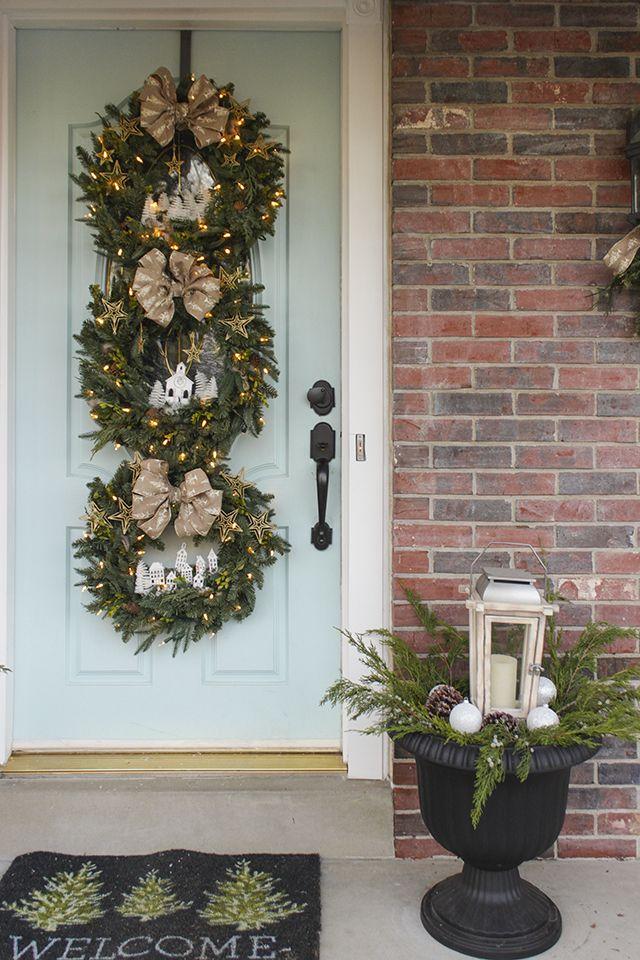50 festive do it yourself christmas wreath ideas pinterest diy woodland wreath trio countryliving solutioingenieria Images